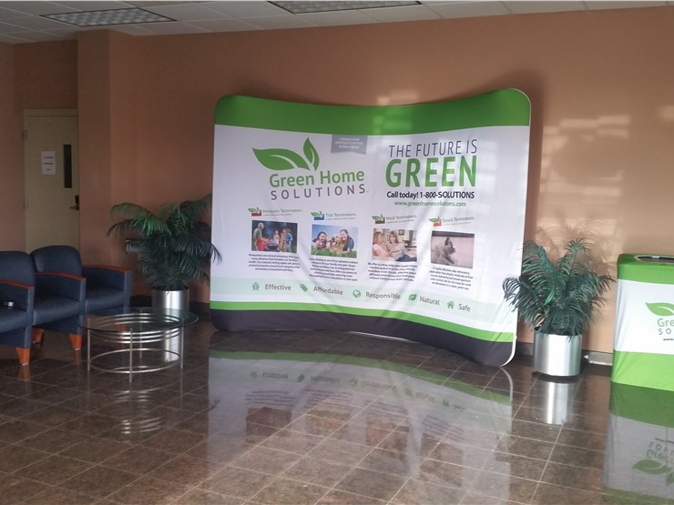 green home solutions display in new london