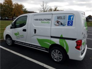 Green Home Solutions Truck in Baltimore