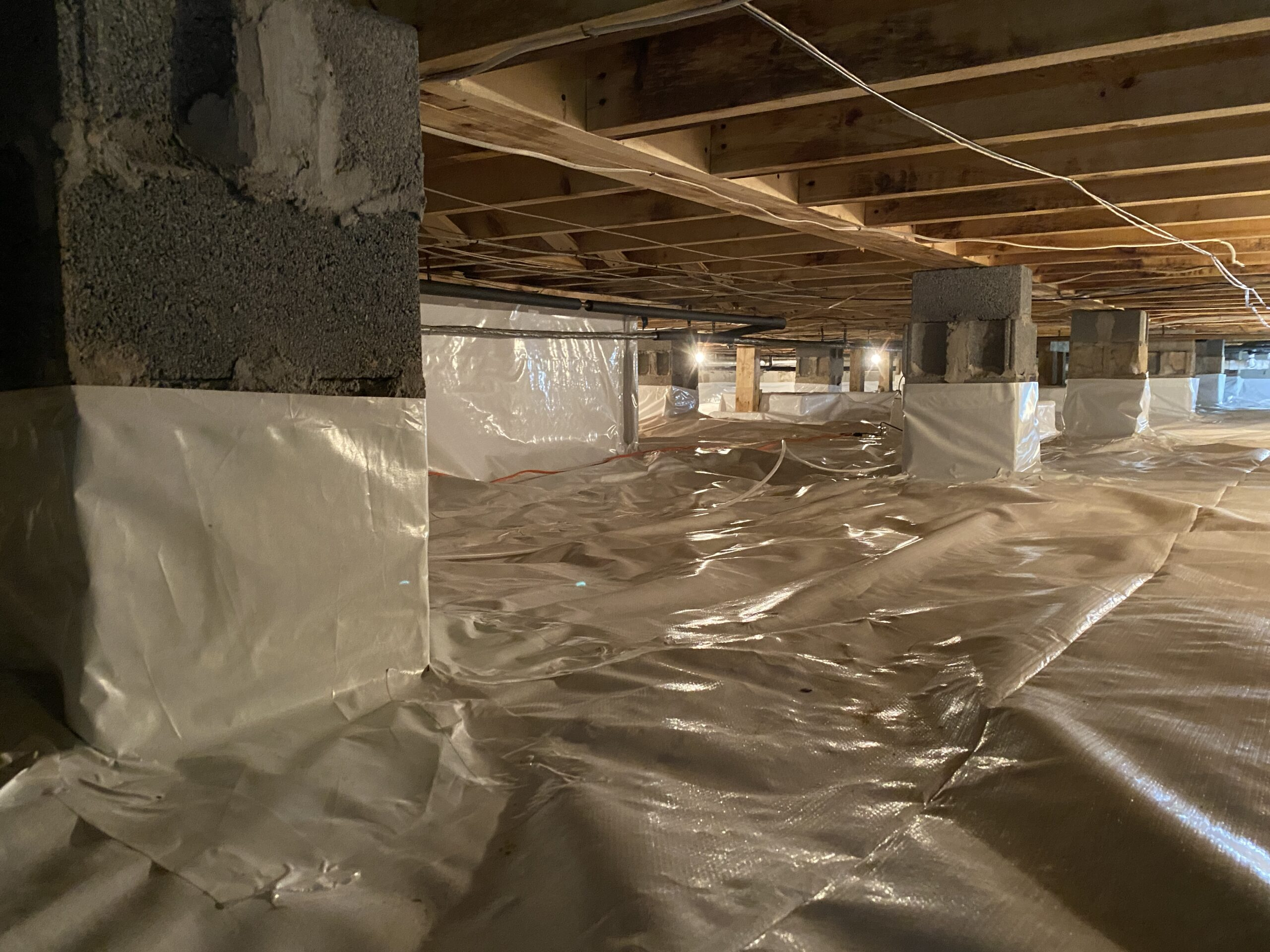 Completed Crawlspace encapsulation in Holland